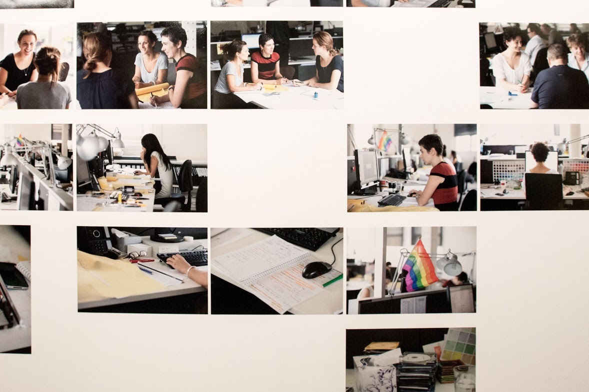"""""""It is a debunking project in that it is trying to show the realities of everyday life at work in architecture, not necessarily the kind of glamourous public image, but at the same time there is a lot idiosyncrasy and pleasure, fun and sense of community that happens in architecture where everyone is working together on a common project and really committed. You can see that in the images of people and also workplaces and the minutiae of everyday life of women in architecture"""" Dr. Naomi Stead (Photo Phuong Le, from Portraits of Practice Exhibition by Parlour)"""