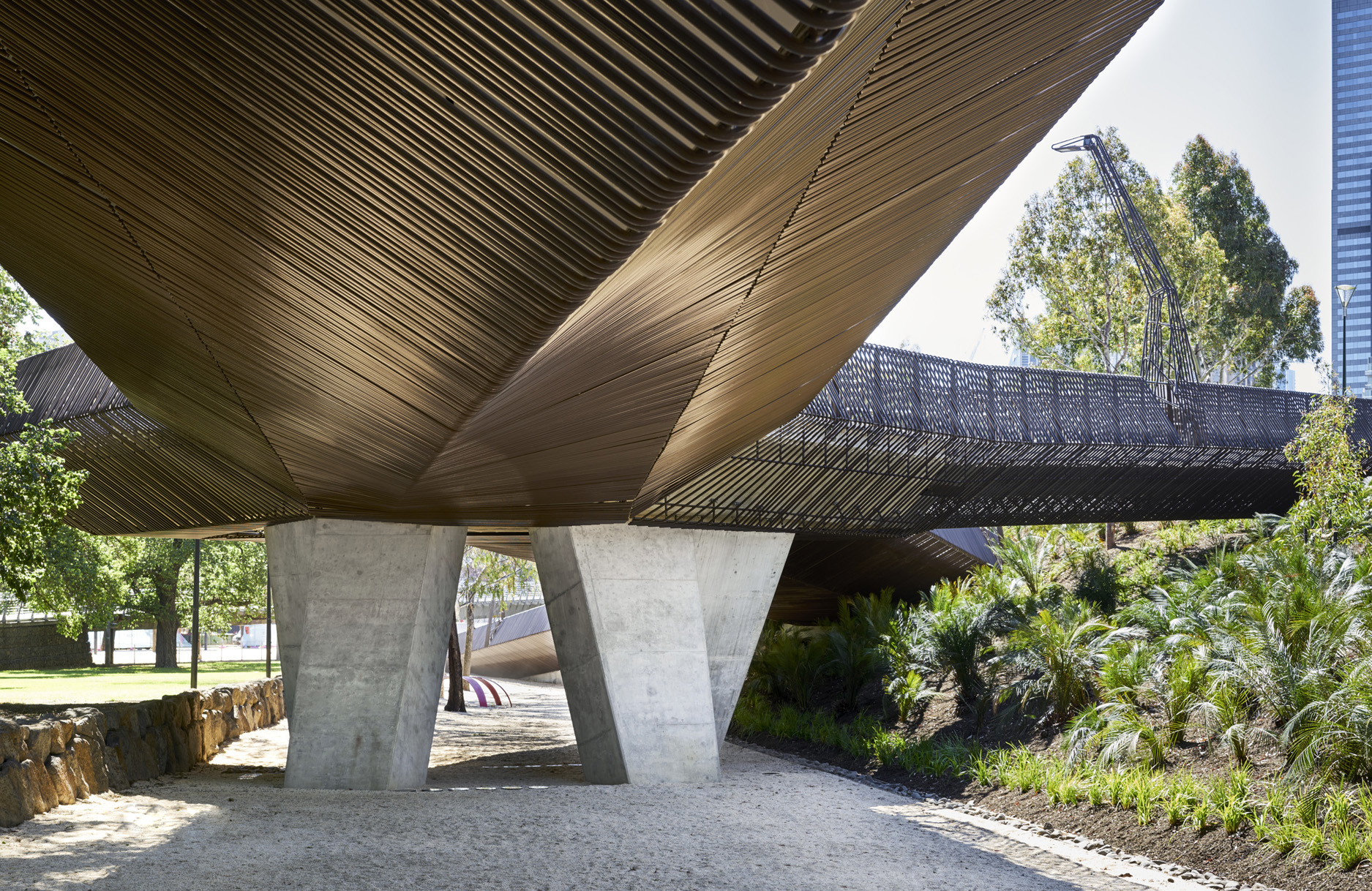 The recently opened Tanderrum Bridge by JWA + NADAAA (Photo: Kristoffer Paulsen)